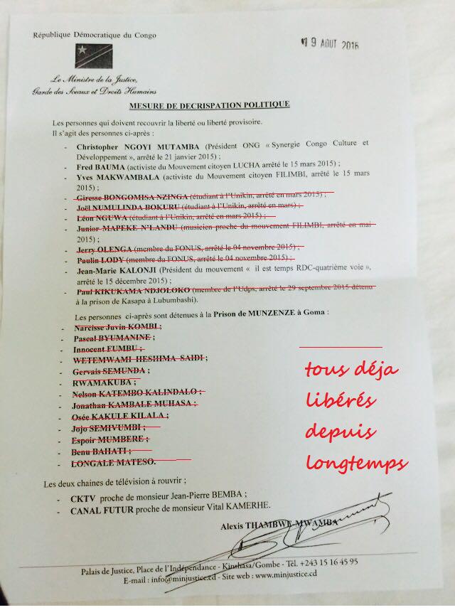 liste tambwe